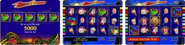 игровой автомат novomatic   coolfire Roller Coaster